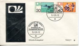 Germany Deutschland Allemagne 1974 World Cup Football Fussball Soccer FDC Frankfurt - Coppa Del Mondo