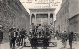 MACON FETES DES 29 30 ET 31 MAI 1909 CHAR DE L'AMICALE DE L'ECOLE DE DESSIN CHAR DE POMPEIEN - Macon