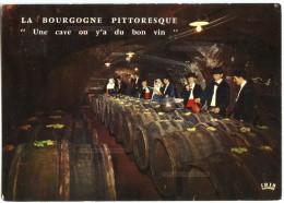 La Bourgogne Pittoresque - Une Cave Où Y'a Du Bon Vin - Sur Un Air Du Folkore Bourguignon - écrite Et Timbrée - 2 Scans - Bourgogne