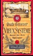Etiket Oude Genever Vieux Systeme - Stokerij Van Damme - Oosterzele Balegem - Etiketten
