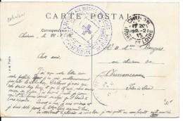 CACHET SOCIETE FRANCAISE DE SECOURS AUX BLESSES..CROIX ROUGE INDRE ET LOIRE . CHINON.1915. - WW I