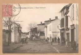 SAINT PIERRE D´AURILLAC (Gironde). - Route Nationale - Voyagée 1906 - TABAC - PIPE (au Dessus De Vla Porte) - France