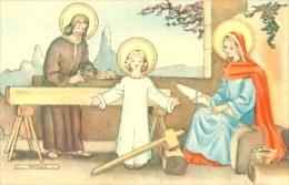 7-esp364. Postal Religiosa. Dibujo Sda. Familia. Ferrer - Otros