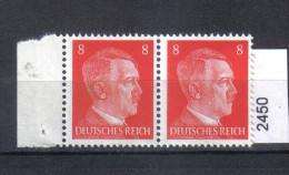3. Reich Mi. 786 ** Paar Bogenrand - Germany