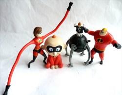 4 Figurines Figurine Mc Donald´s INDESTRUCTIBLES 2004 - Publicitaire Prime - Figurines