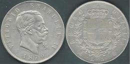 1870 REGNO D'ITALIA VITTORIO EMANUELE II 5LIRE  SILVER - Weight 25gr - 1861-1946 : Regno