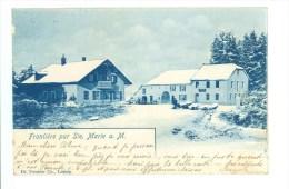 CPA 68 - FRONTIERE PAR SAINTE MARIE A.M - Sainte-Marie-aux-Mines