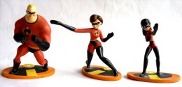 3 Figurines Figurine DISNEY INDESTRUCTIBLES 2004 DISNEY / PIXAR - Figurines