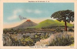"""03013 """"REPUBLICA DE EL SALVADOR, C.A. - VOLCAN DE IZALCO, SONSONATE""""  PANORAMA.  CART. NON SPED. - El Salvador"""
