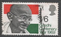 Great Britain. 1969 Gandhi Centenary Year. 1/6 Used SG 807 - 1952-.... (Elizabeth II)