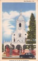 """03018 """"SAN SALVADOR C.A. - SANTUARIO DE N. SRA DE GUADALUPE"""" MARIO CASARIEGO 1959-1960. CART. NON SPED. - El Salvador"""