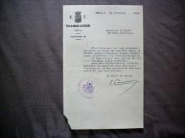 MARLE ET BEHAINE AISNE LE MAIRE COURRIER DU 15 NOVEMBRE 1939 - Historische Dokumente