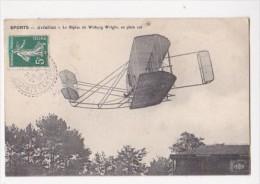 Cpa Sport Aviation Le BIPLAN De Wilburg WRIGHT En Plein Vol ELD - ....-1914: Précurseurs