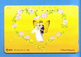 Japan Japon  Telefonkarte Phonecard - NTT Nr. 291 - 008  BUTTERFLY  PAPILLON  SCHMETTERLING - Schmetterlinge