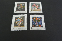 K10277-  Set  MNh Ceskoslovensko 1976  -paintings Flowers-fleurs - Végétaux