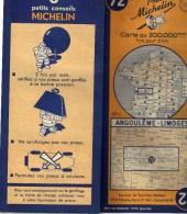 CARTE ROUTIERE MICHELIN N 72 ANNEE 1948 2 - Vieux Papiers