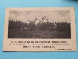 Hotel CHATEAU Des CHéRAS ( Prop. Laurent Galler ) Anno 1920 ( Zie Foto Voor Details ) - Houffalize