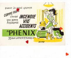 ZE-Buvard.-Quand Je Serai Grande Comme Papa J´aurai Une Bonne Assurance AU PHENIX,Paris - Buvards, Protège-cahiers Illustrés