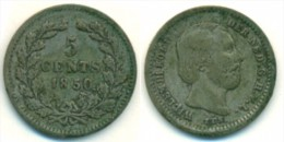 1850 Netherlands 5 Cent Coin - [ 3] 1815-… : Kingdom Of The Netherlands