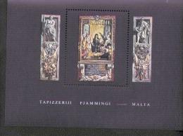 Malta Block 6 Flämische Wandteppiche  ** MNH Postfrisch Neuf - Malta