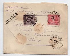 Lettre Chargée Charleville Pour Paris Avec Type Sage N° 97 Et 98 - 11 Avril 1900 - 1876-1898 Sage (Type II)