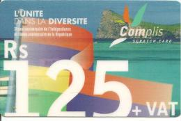 CARTE°-PREPAYEE-MAURICE-CELLPLUS-30é ANNIVERSAIRE INDEPENDANCE-30/06/2004-TBE-RARE - Maurice
