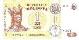 Moldova - Pick 8d - 1 Leu 1999 - Unc - Moldavie
