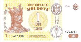 Moldova - Pick 8h - 1 Leu 2010 - Unc - Moldavia