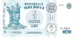 Moldova - Pick 9a - 5 Lei 1994 - Unc - Moldavia