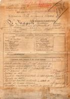 1898 FOGLIO MATRICOLARE E CARATTERISTICO - Documents