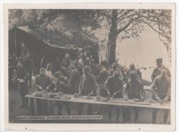 WW1 PHOTO MILITARY Lake Longemer Dinner At An American Camp Animée Camp Americain - Manoeuvres