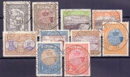 Rumänien Mi. 227-236 Gest. (€ 60,00) - Ansehen!! - 1881-1918: Charles I