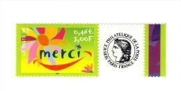 Timbre Personnalisé Merci 2004 YT 3433A Avec Logo Cérés En HELIO . TIMBRE SANS PHOSPHORE , Voir Scan . Maury N° 4a : 5 € - France