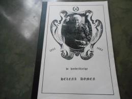 Boek (21 X 29 Cm , 41 Blz) 1982 Honderdjarige Helena Domen Stamboom Opitter Neeroeteren + Doodsprentje En Knipsels - Books, Magazines, Comics