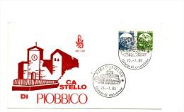 VZ477 - ITALIA FDC 1985 (Ed.Venetia) : CASTELLI Bobina PIOBBICO - 6. 1946-.. Repubblica