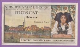 étiquette Vin Alsace Boeckel Mittelbergheim Muscat - Gewürztraminer