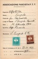 1932 ASSOCIAZIONE FASCISTA P.T.T. - Documents