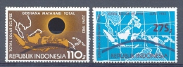 Mdf1153 ZONSVERDUISTERING SOLAR ECLIPSE SPACE SONNENFINSTERNIS INDONESIA 1983 PF/MNH - Sterrenkunde