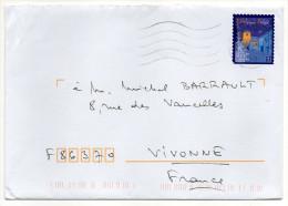 2015-Lettre De Belgique Pour La France--timbre  Seul Sur Lettre--- - Belgium