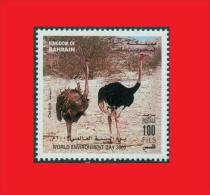 Bahrain 2003, Common Ostrich / Autruche D'Afrique  / Oiseau Bird MNH ** - Autruches