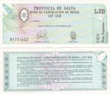 Argentina / Salta - 100 Pesos 1987 UNC Lemberg-Zp - Argentinien