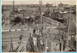 Gdynia, Gdingen. Shipbuilding Yard 2.  12,5 X 17,8 Cm - Gegenstände