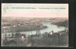 CPA Fontaines-sur-Saône, Vue Panoramique Sur La Saône Et Sathonay - France