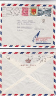 1949 Air Mail FRANCE COVER From HOTEL RUHL Nice To USA  Stamps 40f Musee 2f Arms 1f - France