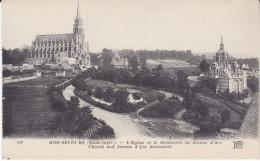 Old FRANCE Postcard BON SECOURS CHURCH & JOAN OF ARC MONUMENT Religion - Eglises Et Cathédrales
