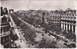 Old FRANCE Photo Postcard PARIS Champs Elysees CARS PEOPLE - Champs-Elysées