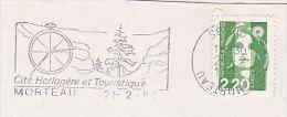 1992  FRANCE Stamps COVER Illus SLOGAN Pmk MOREAU WATCHMAKING CITY Ilus WATCH  Clock - Clocks