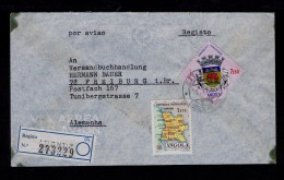 Eléphants Coat Of Arms Armoiries ANGOLA Maps Cover Freiburg Germany Brasons Faune Animals Animaux Portugal Sp3576 - Elefantes