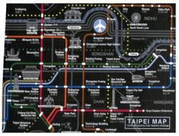 (662) Taipei Metro Map - Subway