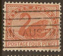 WESTERN AUSTRALIA 1902 4d Swan SG 119 U #QP246 - 1854-1912 Western Australia